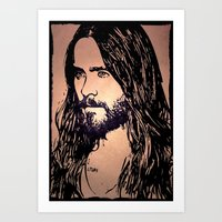 jared leto Art Prints featuring Vector Jared Leto by Emma Porter
