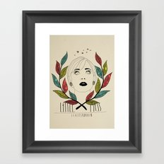 Little Miss Scatterbrain Framed Art Print