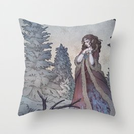 Lady Frost Throw Pillow