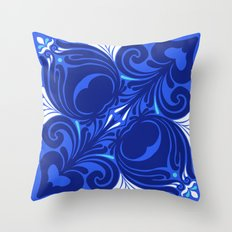Bleu Nouveaux Throw Pillow
