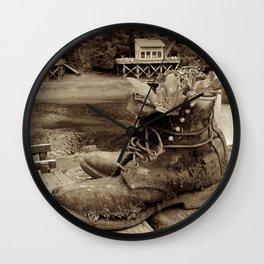 New Purpose in Seldovia Wall Clock