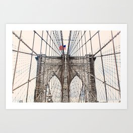 Brooklyn Brigde New York City ArtWork Paint Art Print