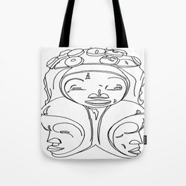 African Mask Motif #1 Tote Bag