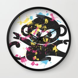 NINJA MONKEY Wall Clock