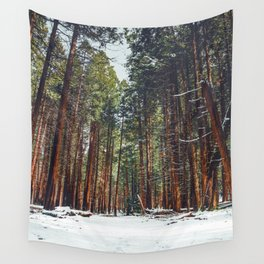 The Winter Forest (Color) Wall Tapestry