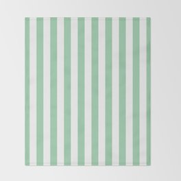 Mint Green Small Even Stripes Throw Blanket