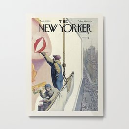 """Cover of """" The new Yorker"""" magazine. Mar. 29 1952. Metal Print"""