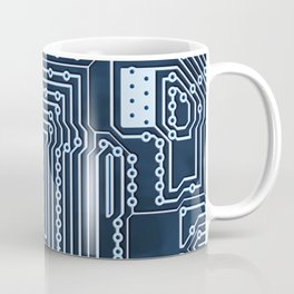 Blue Geek Motherboard Circuit Pattern Coffee Mug