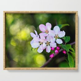 Beautiful Crab Apple Flowers Serving Tray