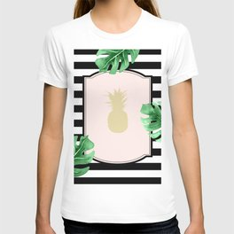 Chic Pineapple & Tropical Leaves T-shirt