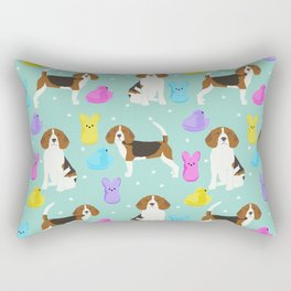 Beagle marshmallow peeps candy spring easter treat tradition for dog lovers Rectangular Pillow