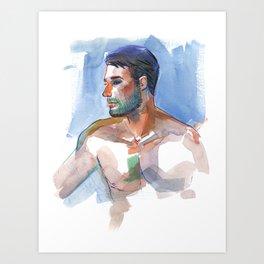 MATT, Semi-Nude Male by Frank-Joseph Art Print