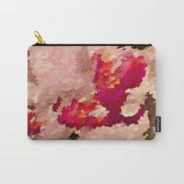 Red and White Orchid Abstract Carry-All Pouch