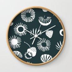 Seaflower mono Wall Clock