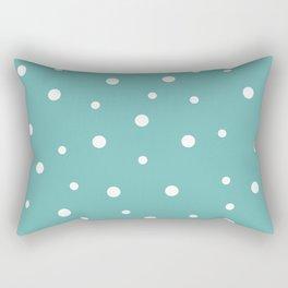 Seamless Polka Dots Pattern Rectangular Pillow