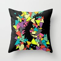 triangles Throw Pillows featuring Triangles  by AtomicChild