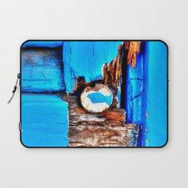 Blue Wood Laptop Sleeve