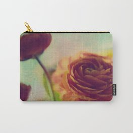 Painted Ranunculus Carry-All Pouch