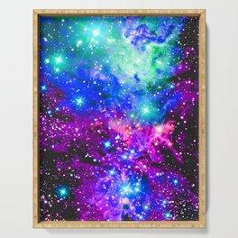 Fox Fur Nebula Galaxy Pink Purple Blue Serving Tray