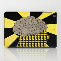 brain iPad Cases featuring Brain by Art By Carob
