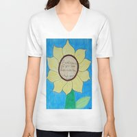 stevie nicks V-neck T-shirts featuring The gardens of Buckingham and Nicks by Rocker-Fan-Art