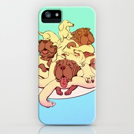 Pupsketti and Meatboys iPhone Case