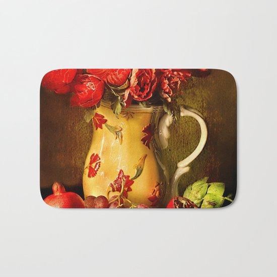 Flower and fruit Bath Mat