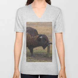 Blue-tongued Bison Unisex V-Neck