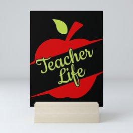 Teacher Life Gift Teaching Love Back To School 100 Days Mini Art Print
