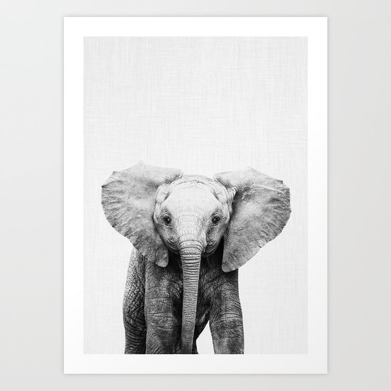 Baby Elephant by taiprints
