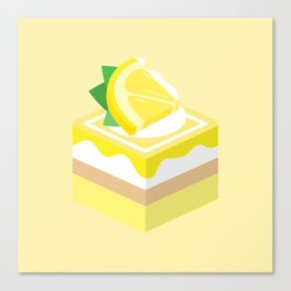 Yellow Lemon Cake Canvas Print