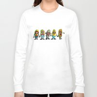 minions Long Sleeve T-shirts featuring zombie minons by byron rempel