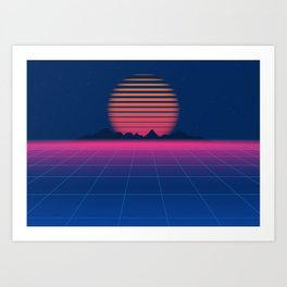 Sci-Fi and Fiction Background Art Print