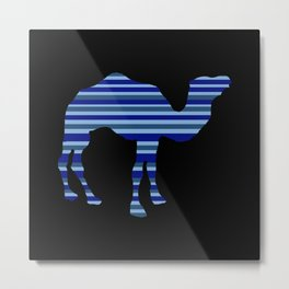 Camel Stripes (night) Metal Print