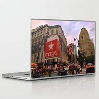 manhattan Laptop & iPad Skins featuring Manhattan by Jaime Viens
