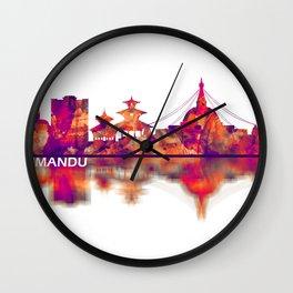 Kathmandu Nepal Skyline Wall Clock