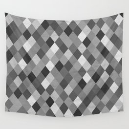 Black and White Harlequin Wall Tapestry