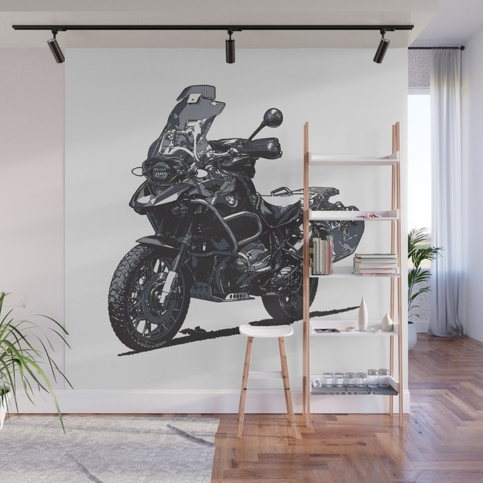 R1200GS Motorcycle Wall Mural by ernyoung Society6