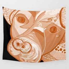 Pit Bull Sepia Tones Wall Tapestry