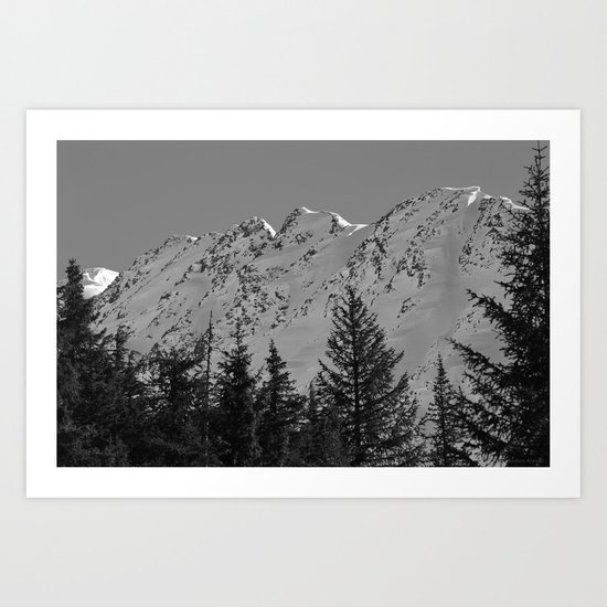 Gwin's Winter Vista - B & W Art Print