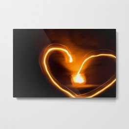 fire heart Metal Print