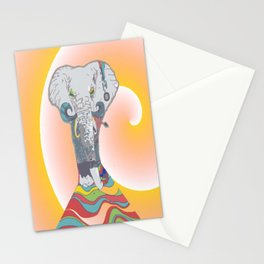 Sleeping Elephant Stationery Cards