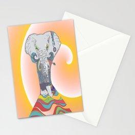 Sleeping Elephant Stationery Cards
