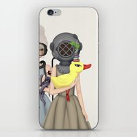 diver iPhone & iPod Skins featuring diver by Anne  Martwijit