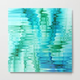 Water Ripples Abstract Metal Print