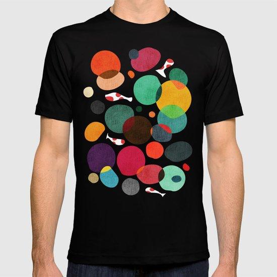 Lotus in koi pond T-shirt