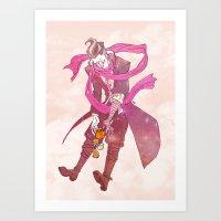 gundam Art Prints featuring soft gundam by Cori Walters