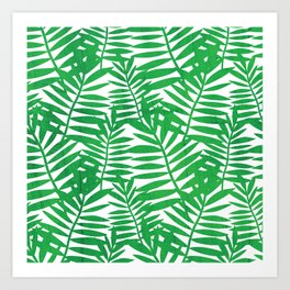 Tropical Leaf Print Art Print