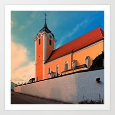 The village church of Neufelden I | architectural photography Art Print