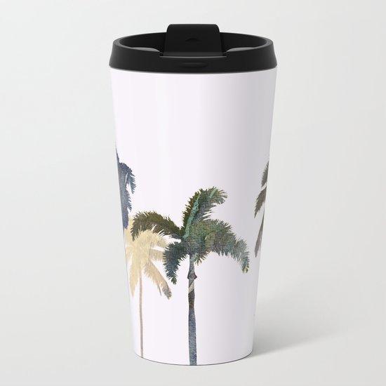 Palm trees watercolor Metal Travel Mug